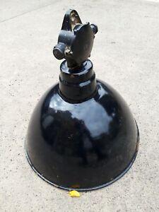 Antik Lampen Art Deco Bauhaus Metall Emaille Schirm EMAILLIERT
