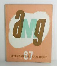 Revue Arts et métiers graphiques n°67. Mars 1939. Dignimont. Hans Fischer.