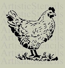STENCIL French Farmhouse Hen  10x9.5