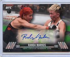 2017 TOPPS UFC KNOCKOUT IST DEBUT ROOKIE RC AUTO RANDA MARKOS #/35 GREEN