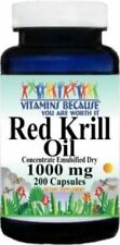 1 Pk RED Krill Oil *HIGH 1000mg 200 Caps Omega-3 Fatty Acids-EPA-DHA-Astaxanthin