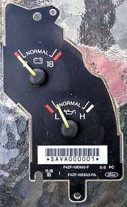 94 95 Ford Mustang V6 Instrument Cluster Oil Pressure & Voltage Charging Gauges