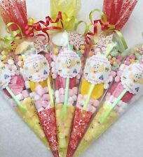 15 X Emoji Themed Pre Filled Sweet Cones Personalised + Free Sweety Bag
