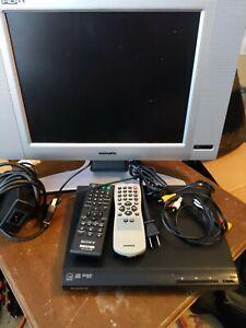 Magnavox 15MF605T/17 HD TV Monitor & Sony DVP-SR210P CD/DVD Player w/ Remotes