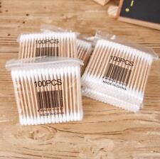 100Pcs New Disposable Cotton Swab Applicator Q-tip Swabs Bamboo Handle Sturdy
