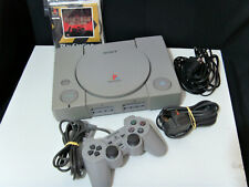 Sony PLAYSTATION 1 PS1 Console w/ One Dual Shock Controller 5 Action Games Leads