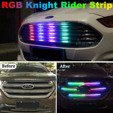 7-Color RGB LED Knight Rider Strip Light Under Hood Behind Grille For Hyundai