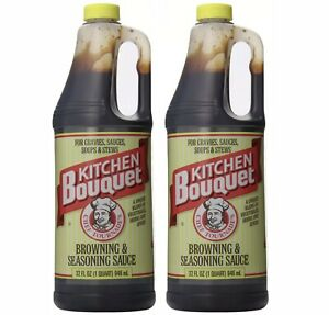 2 Pack Kitchen Bouquet Browning and Seasoning Sauce, 32 Ounce