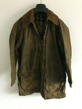 Mens Barbour Vintage Gamefair wax jacket green coat 40in size Small / Medium S/M