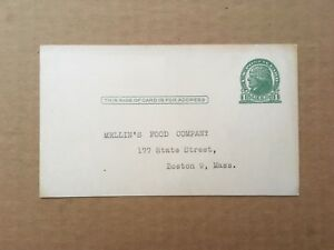 """1914 1c JEFFERSON UX27 PC MELLIN'S FOOD CO. """"The Care and Feeding of Infants"""""""
