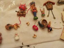 Lot Of Assorted Wooden And Other Miniature Toys