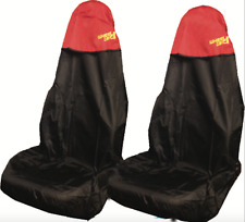 Car Seat Cover Waterproof Nylon Front Pair Protector RED fits Renault All Models
