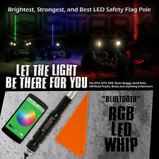 """60"""" 5FT RGB 5050 LED Light Whip Bluetooth Control Quick Release Offroad 1Pc (A)"""
