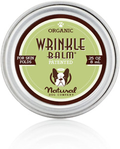 Natural Dog Company Wrinkle Balm Heal Dog Skin Fold Dermatitis 0.25 oz