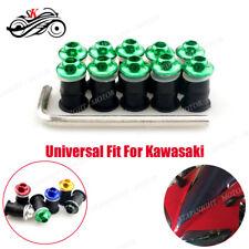 All-purposed 10pcs CNC Windshield Bolts Mounting Screw Kits Washer For Kawasaki