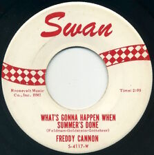 """FREDDY CANNON What's Gonna Happen When Summer's Done/Broadway 7"""" 1962 Swan EX"""