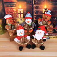Merry Christmas Candy Storage Basket Decoration Santa Claus Storage Basket Decor