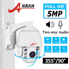 Anran Home Security Camera System 5Mp Pan/Tilt Wireless Cctv 2Way Audio Outdoor