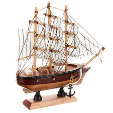 16cm Hand-made Pine Wooden Sailing Craft Ship Sailing Boat Model Home Decor Toy