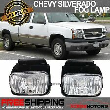 03-06 Chevy Silverado Avalanche Fog Lamp Light Clear Lens Wiring Kit Black Bezel