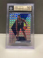 2019-20 Panini Mosaic Zion Williamson RC #209 Mosaic Prizm BGS 9.5 GEM MINT