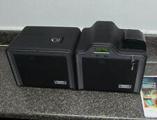 Fargo HDP5000 HDPii Financial Card Printer w/Encoders +Ribbon/Film/Card Supplies