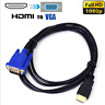 Hot HDMI Gold Male To VGA HD-15 Male 15Pin Adapter Cable 6FT 1.8M 1080P