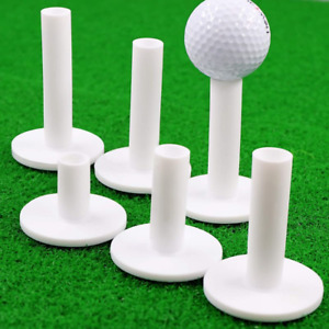 Golf Tees Rubber Tee 3/6 Pack Different Size Driving Practice White Range US
