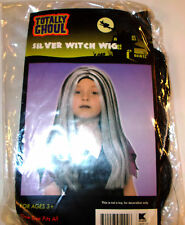 Black Silver Streak Witch Wig Costume New