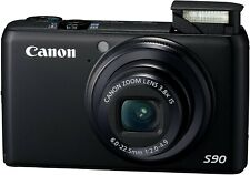 Canon PowerShot S90 10.0MP Digital Camera - Black with Hard Case