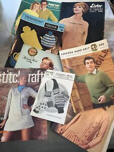 Vintage Collection Of 1960's Knitting Patterns WOMENS Mens Fashion And Household