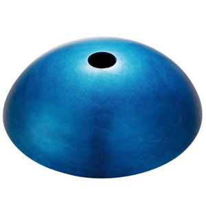 Irruption Glass Vessel Sink in Blue with Pop-Up Drain and Mounting Ring in Satin
