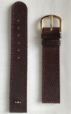Technos 17mm Genuine Leather Brown Watch Strap With Tang Buckle
