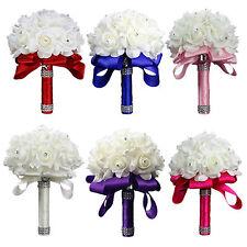 Best Wedding Flower Rose Crystal Bouquet, Bride Bridesmaid Flower-Girl Wand