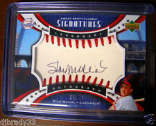 Stan Musial 2007 Upper Deck Sweet Spot Signatures 6/75  Autographed Card 1/1