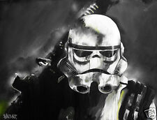 Stormtrooper Star wars painting street art print poster canvas original