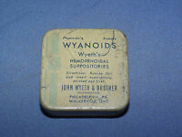 VINTAGE WYETH'S WYANOIDS HEMORRHOIDAL SUPPOSITORIES TIN
