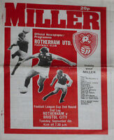 ROTHERHAM v BRISTOL CITY 4 Sep 1979 FOOTBALL PROGRAMME LEAGUE CUP 2nd round