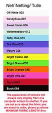 Netz Tüll 12 Farben 3 Meter Breit