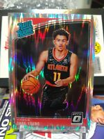 2018-19 Donruss Optic Trae Young RATED ROOKIE SHOCK PRIZMP RC #198 HAWKS