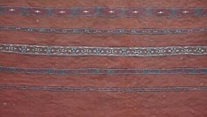 Antique 1880s Turkoman Bag-Face Textile Hand Woven Wool Oriental Rug 3' x 3'6""