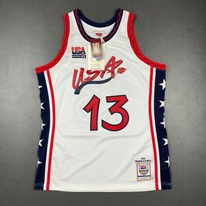 100% Authentic Shaquille O'Neal Mitchell & Ness 1996 USA Jersey Size 44 L Mens