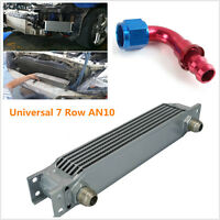 UNIVERSAL SILVER 7ROW AN-10AN UNIVERSAL ENGINE TRANSMISSION OIL COOLER w/fitting