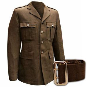Original Britische Armee Jacke No 2 Uniform Braun Tunika British Army Khaki