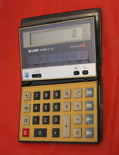 Calcolatore calcolatrice calculator Sharp F10 F 10 Elsi Mate EL-332 solar cell