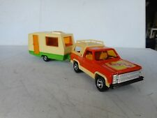 1/36 MAJORETTE DIECAST TOY CHEVY BLAZER  ORANGE   WITH CARAVAN N MINT RARE SET