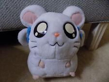 "2002 Hasbro Hamtaro Bijou Ham Ham large 10"" plush White Girl Hamster Blue Bows"
