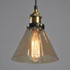 Vintage Antik Industrie Glas Schirm Hängeleuchte Pendelleuchte Retrolampe Neu DE