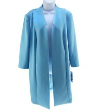 Peter Nygard Jacket Open Front Spring Romance 7SR Spa Blue Missy Size 12 New NWT