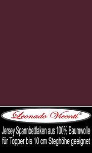 16 Stück Spannbettlaken für Topper 140-160x200 cm Bordeaux 100% Baumwolle Laken